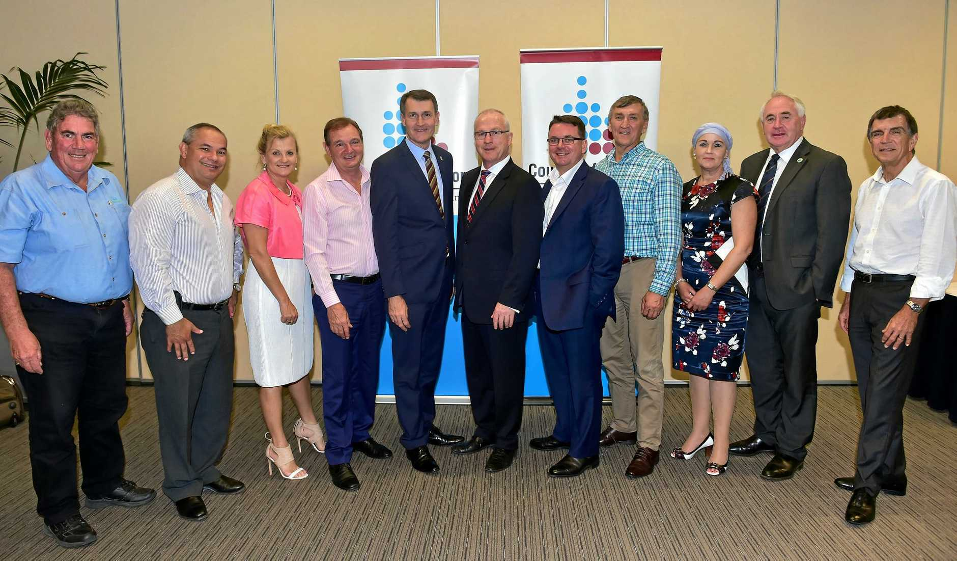 South East Queensland Council of Mayors meet in Mooloolaba in 2016.