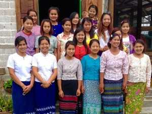 Locals help to sew skills of life in village