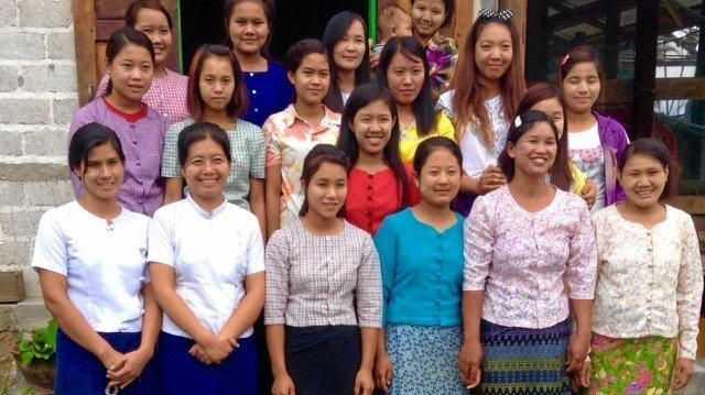 The sewing class at Samkar Village.