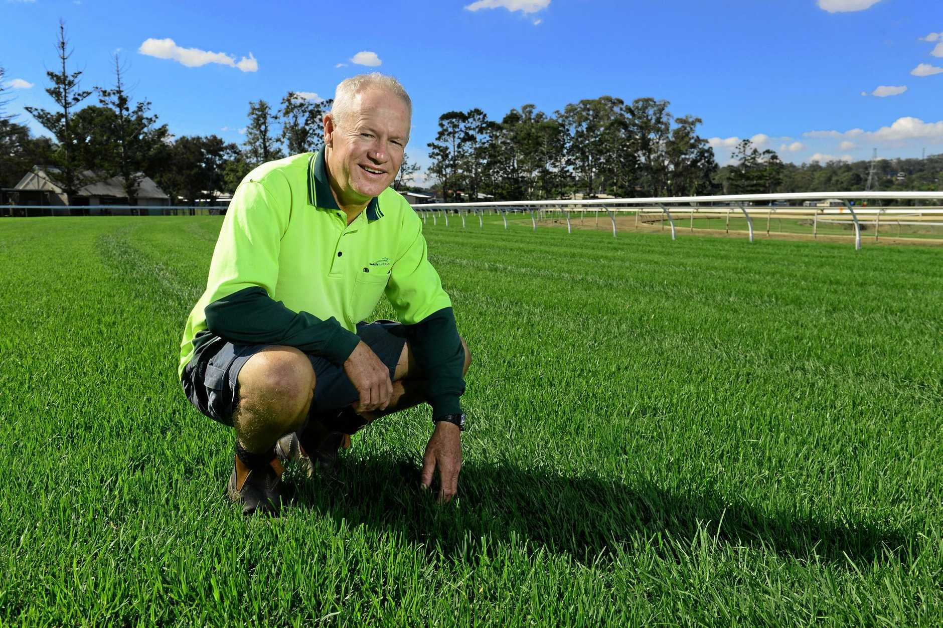 Darrel Bell has worked for 37 years as a groundsman at the Ipswich Turf Club.