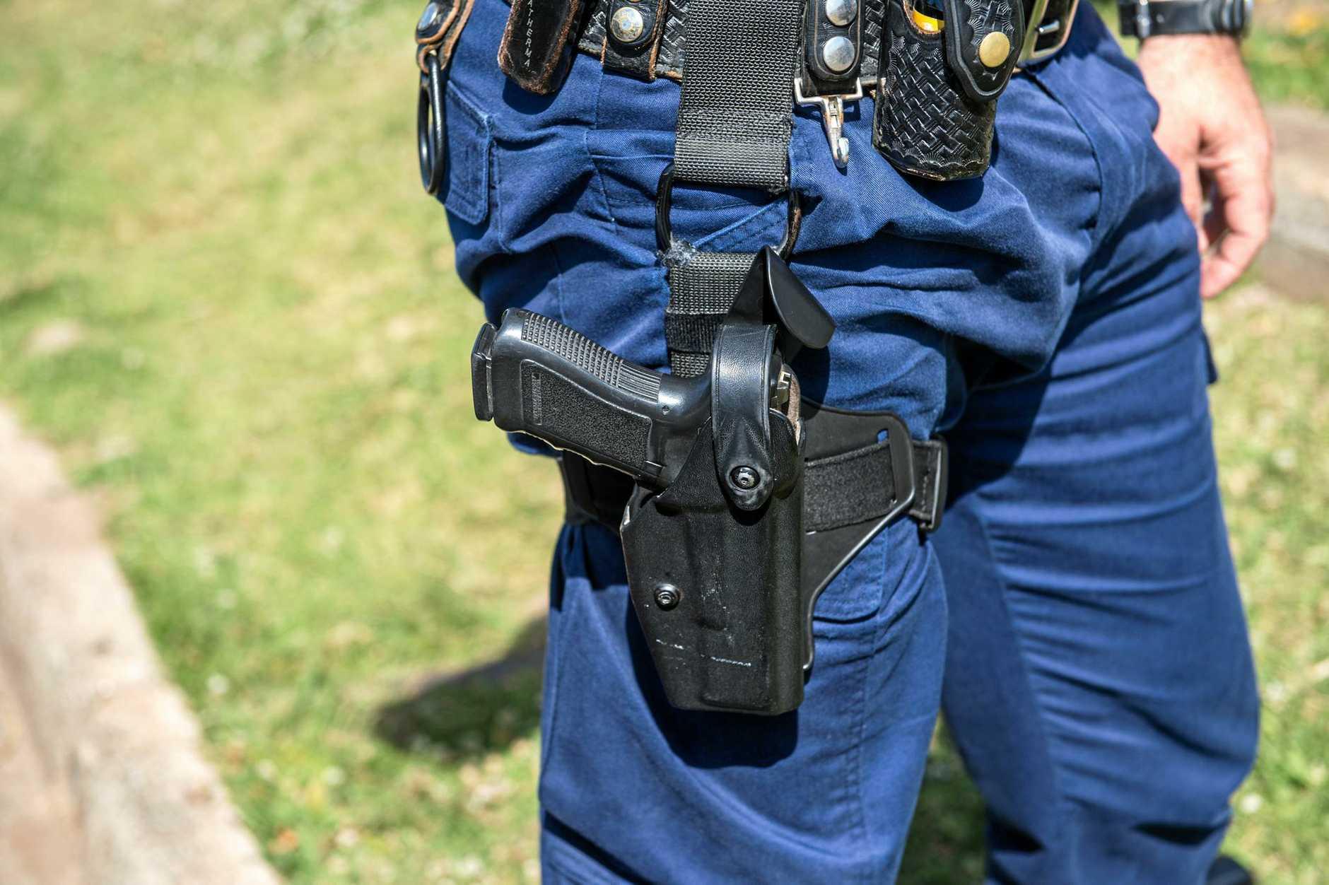 NSW police generic pistol gun. 07 October 2016