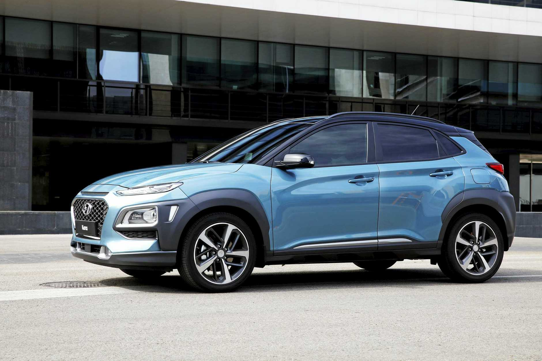 The Hyundai Kona small SUV will be launched by October in Australia with a choice of two petrol engines. EMBARGO JUNE 13 11.30AM