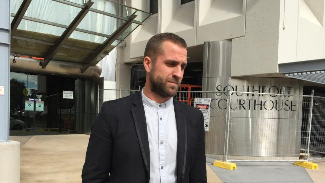 Dominic Beinke outside Southport Court.
