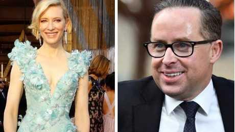 Actress Cate Blanchett, AC, and Qantas CEO Alan Joyce, AC.