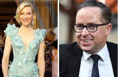 Actress Cate Blanchett, AC, and Qantas CEO Alan Joyce, AC.