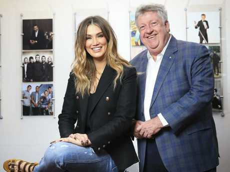 Denis Handlin, Chairman and CEO of Sony Music Entertainment, with Delta Goodrem.