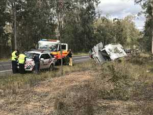 Emergency crews use sunroof to rescue three trapped in crash