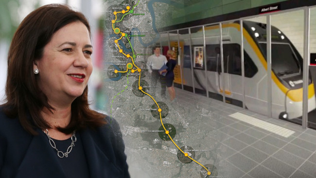 Premier Annastacia Palaszczuk yesterday took another swipe at Mr Turnbull for not guaranteeing Commonwealth funds over the project.