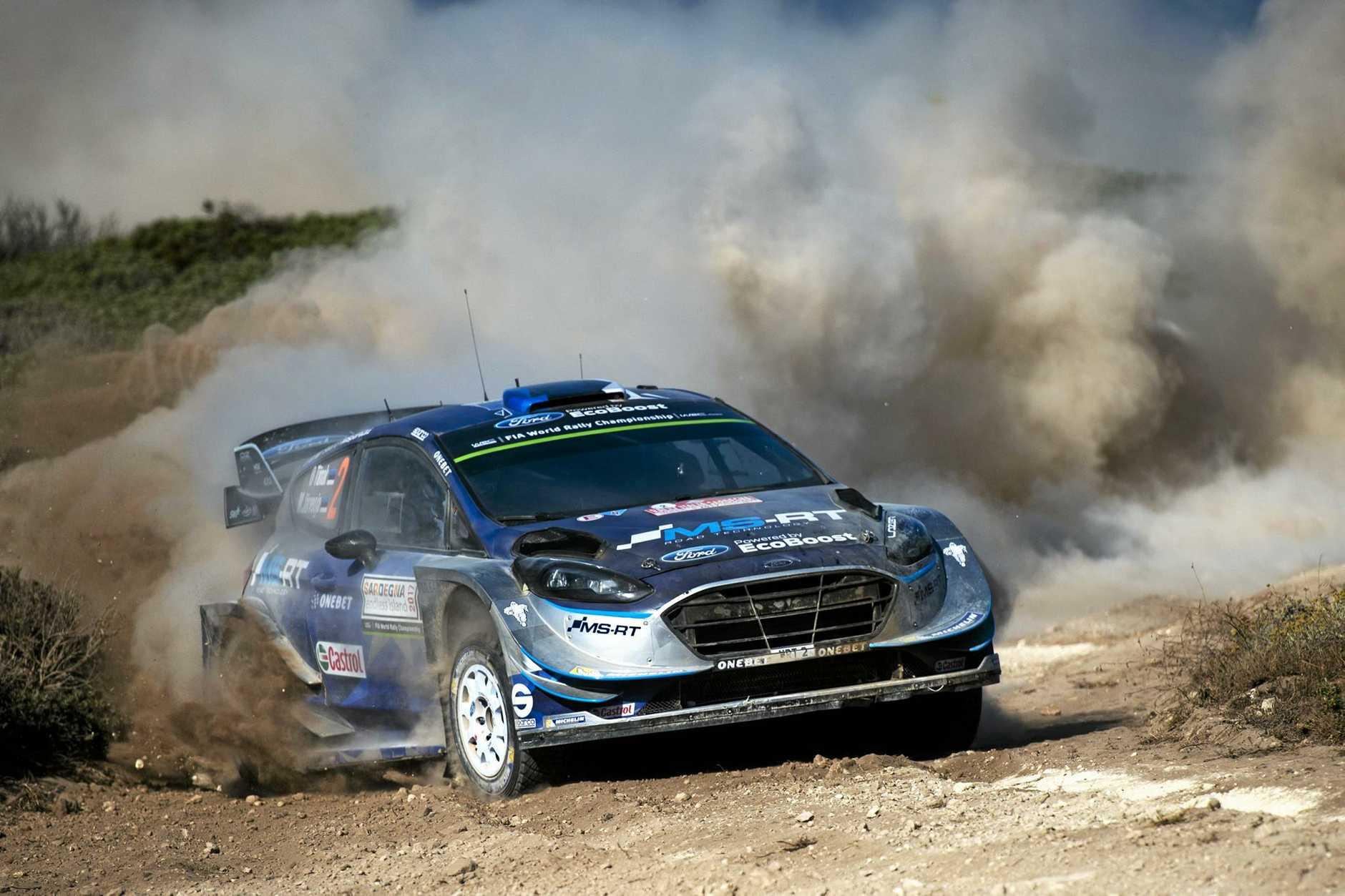 Ott Tänak survived dusty, rough conditions to win Rally Italia Sardegna.