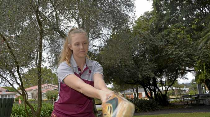 FAMILY TRADITION: Toowoomba cricketer Maggie Murphy is dreaming big about a career in cricket where her family fields its own team.