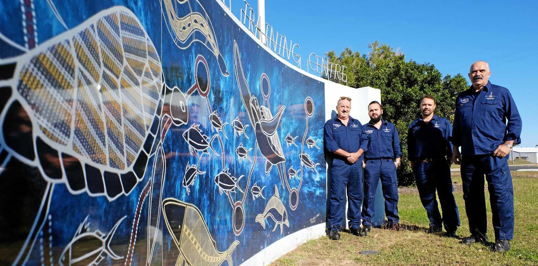 SEA RANGERS: Tom Osborne, Brent McLellan, Quinten Springham and Kerry Blackman.