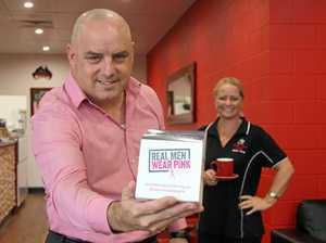 Real men wear pink for cancer awareness