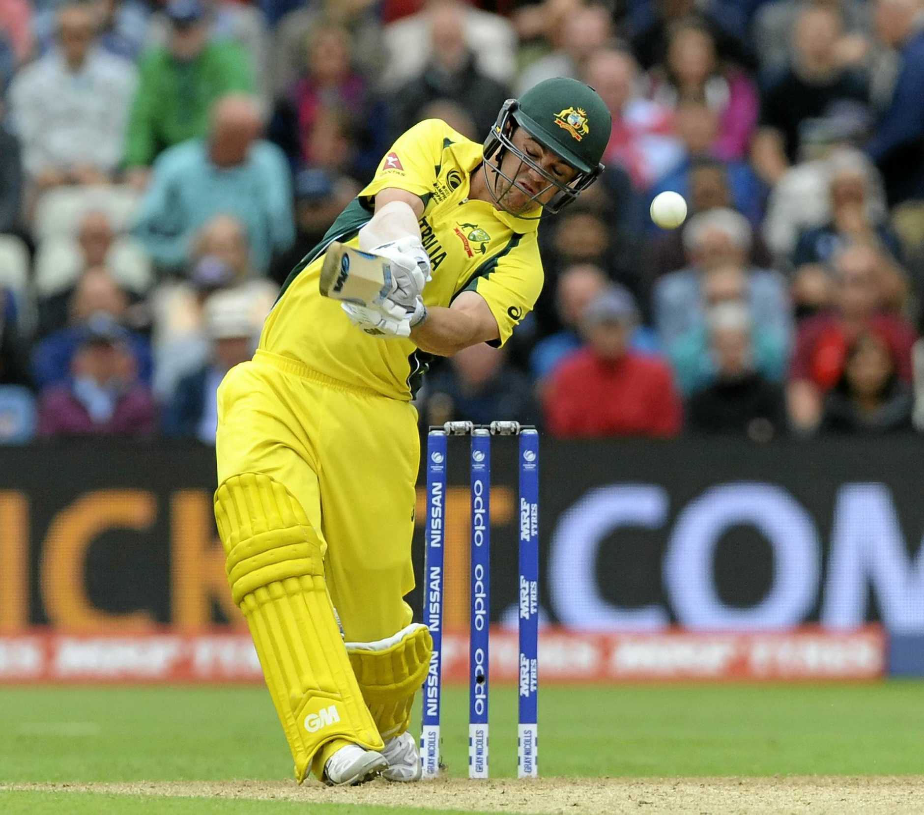 Australia's Travis Head plays a shot during the ICC Champions Trophy match against England at Edgbaston in Birmingham.