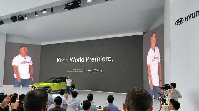 The new Hyundai Kona is launched in South Korea.