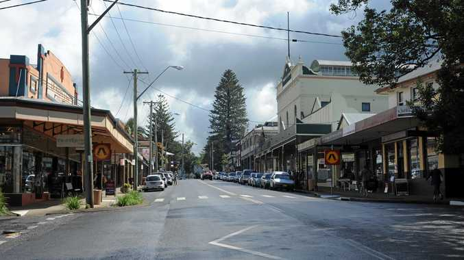 Bellingen's main street.