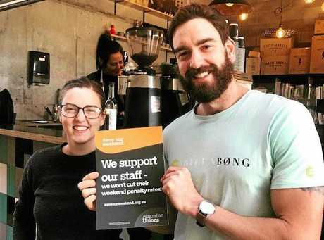 Rhys and Sarah Davies, who own Yeppoon coffee shop Chapter.