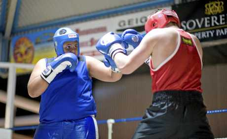 AMATEUR DAYS: Corban Kanaveilomani (left) takes on Les Madden at Smithy's Gym back in 2012.