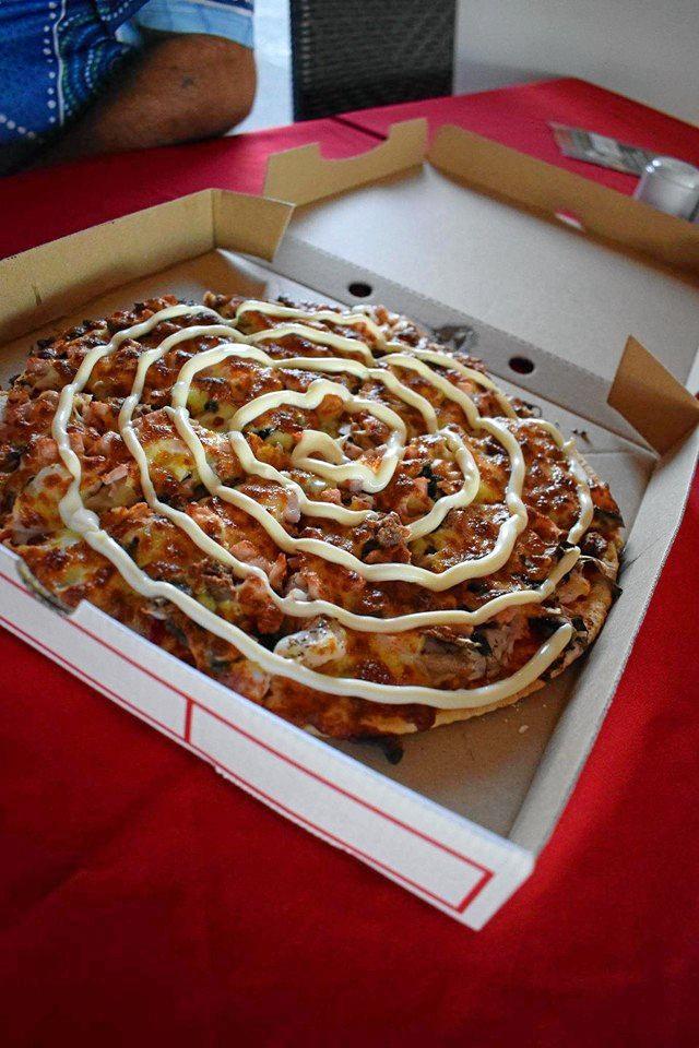 Pizza at Bella Martino's.