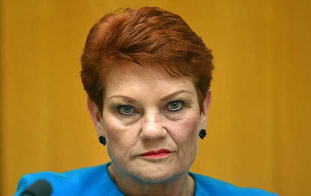 Senator Pauline Hanson at Parliament House.