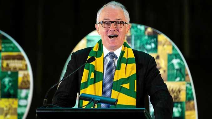 Australian Prime Minister Malcom Turnbull speaks during the Women's FIFA World Cup 2023 bid announcement.