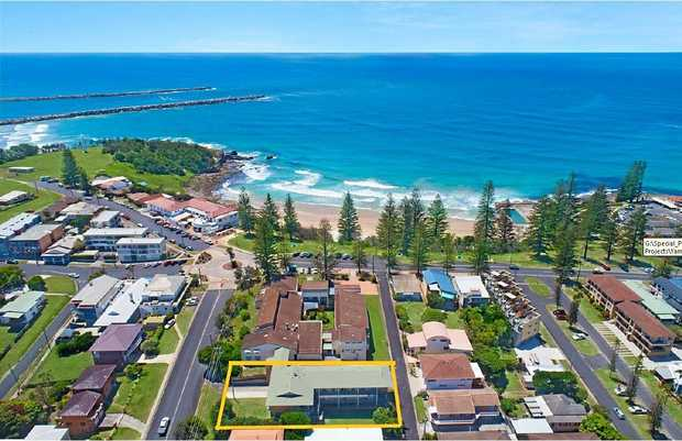 The Yamba motel site up for sale.