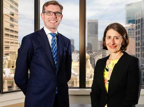 State Treasurer Dominic Perrottet and Premier Gladys Berejiklian.