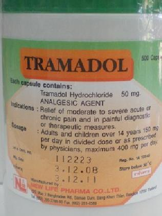 Tramadol is commonly taken for moderate to severe pain.