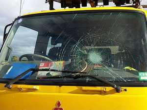 Truckies targeted by vandals