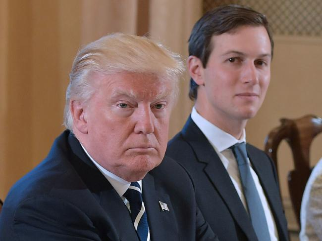US President Donald Trump (left) and White House senior adviser Jared Kushner are facing fresh conflict of interest concerns. Picture: AFP/Mandel NganSource:AFP