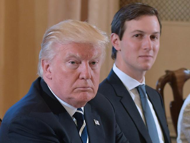 US President Donald Trump (left) and White House senior adviser Jared Kushner are facing fresh conflict of interest concerns. Picture: AFP/Mandel NganSource:AFP