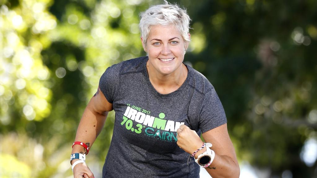 lena Goodall, who has Type 2 diabetes, lost a massive amount of weight in order to compete in the Cairns Ironman. PICTURE: ANNA ROGERS