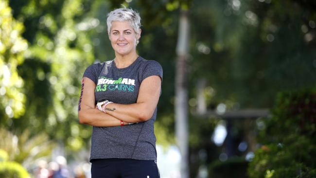 Elena Goodall, who has Type 2 diabetes, lost a massive amount of weight in order to compete in the Cairns Ironman. PICTURE: ANNA ROGERS