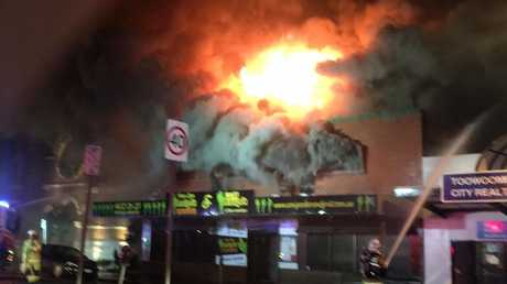 The scene of the fire. Photo 7 News Toowoomba