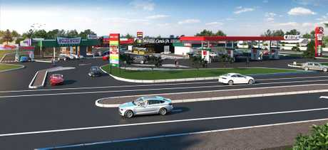 Artist's impression of the new Redbank Plains service and food centre on Redbank Plains Rd.