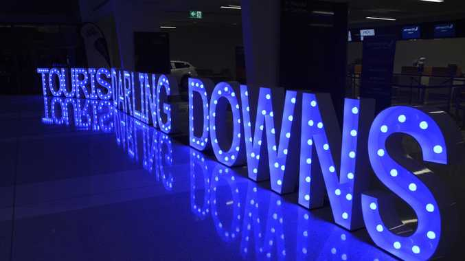 Some of the lettering at the launch of Tourism Darling Downs.