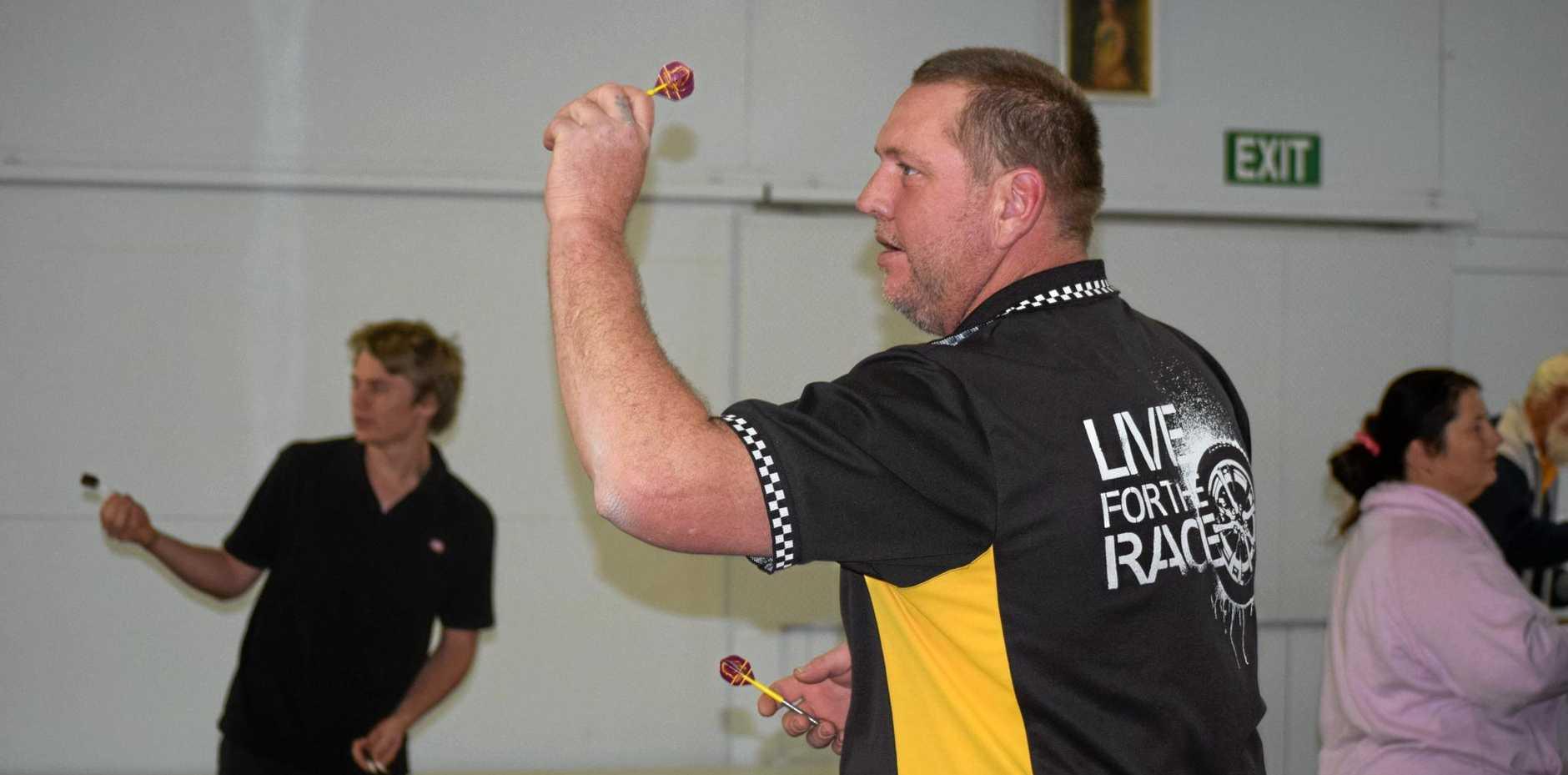 BULLSEYE: Al Volmerhause is proving to be a great asset in the Mundubbera Darts Association.
