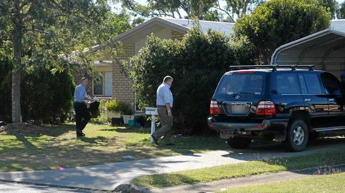 Police at a Taranganba house where a number of poeple over dosed on drugs.