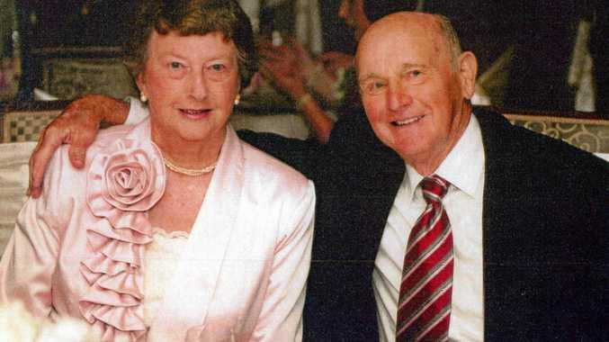 HAPPY ANNIVERSARY: Toowoomba couple Ron and Floris Wilson celebrate their 60th wedding anniversary.