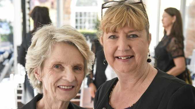 June Fitzgibbon (left) and Meryl Frizzell help raise funds.