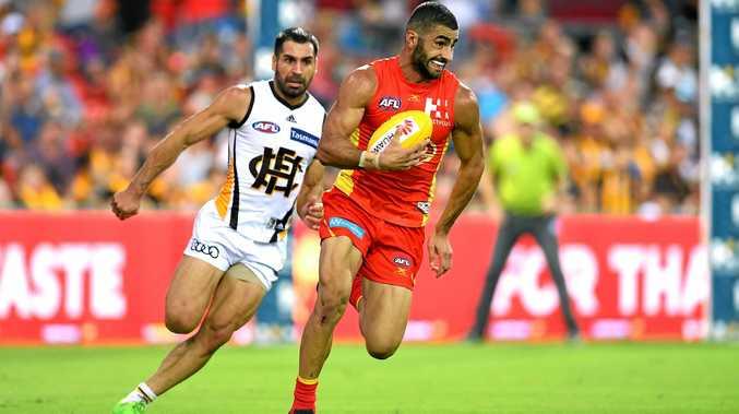 Adam Saad of the Gold Coast Suns