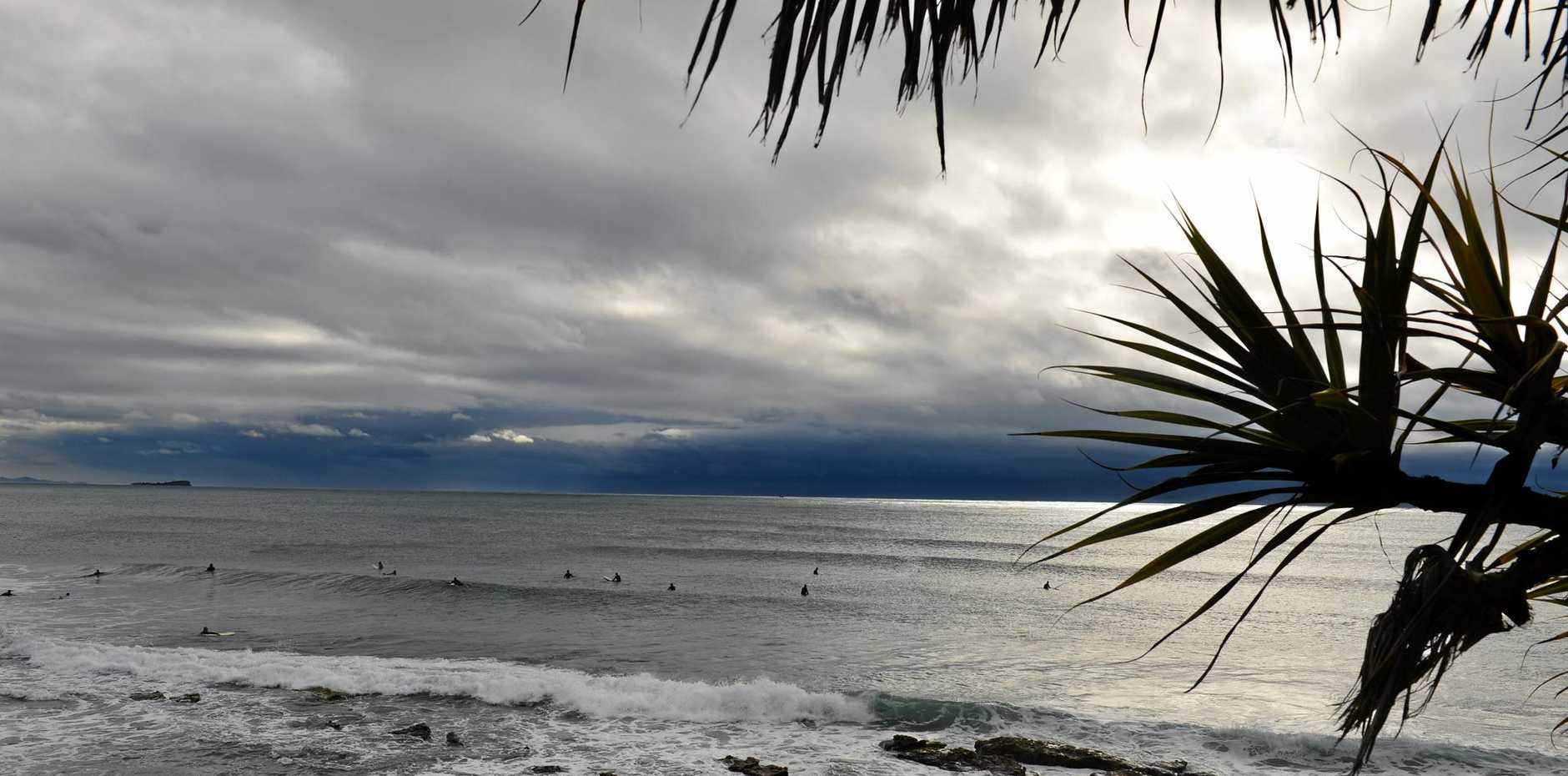 EXPECT more gloomy weather like this at Alexandra Headland through to at least Sunday according to the weather bureau.