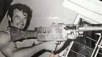 Ivan Milat with a gun on the cover of Alistair Shipsey's book.