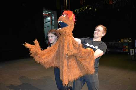 Lorraine Hanson, Trekkie Monster and Joshua Bloomfield will be featured in the production Avenue Q at the Pilbeam Theatre on June 17 and 18.
