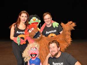 Muppets on crack comedy on stage in Rocky this weekend