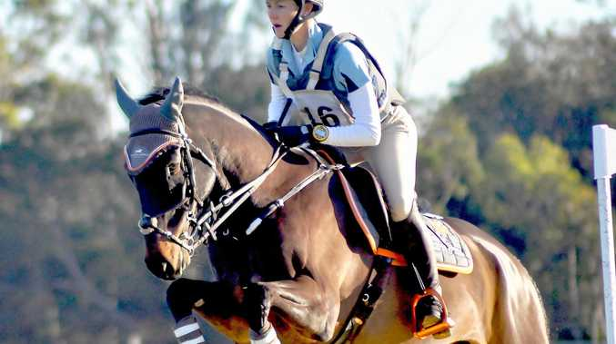ON COURSE: Darling Downs rider Mattea Davidson with APH Charlie Brown at the Melbourne International Three-Day Event.