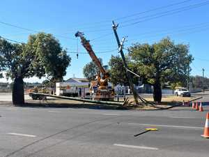 Mass power outage caused by truck crash