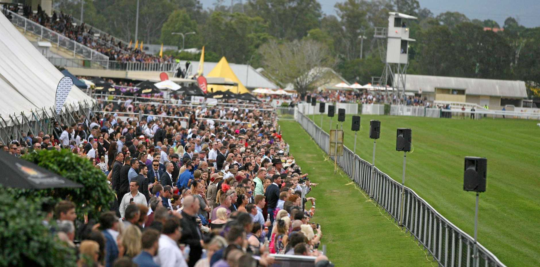 OUR DAY: A huge crowd gathers for the main race at last year's Ipswich Cup. Organisers are expecting another big crowd.