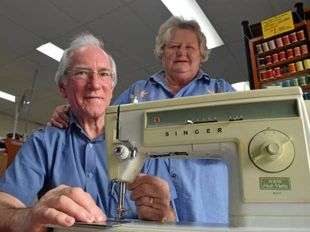 MOVING ON: Graham and Paula, owners of Creative Home Sewing Centre, are retiring.