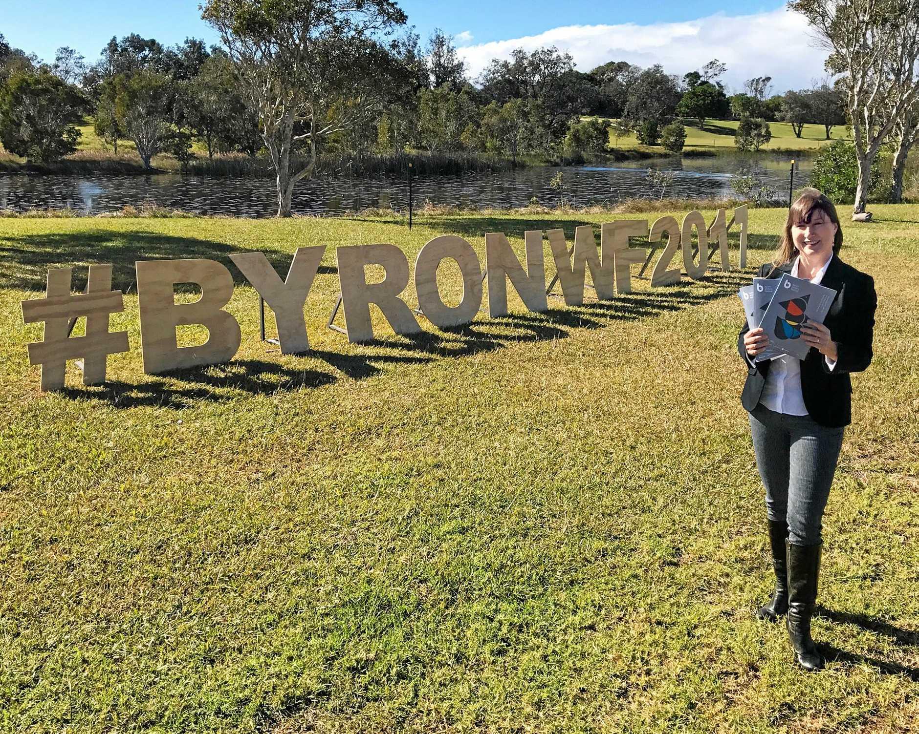 Byron Writers Festival Chair Jennifer Saint George with the new 2017 program.