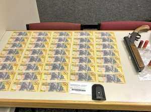 Coast cops nab cash, drugs, shotgun in joint raids